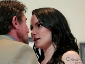 black-haired beauty getting threesome hardcore with husband @ dp my wife with...