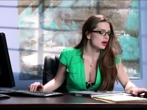 Big boobs secretary Veronica Vain fucked by her client