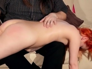 Spanked redhead Tinys beaten bottom and electro tortured