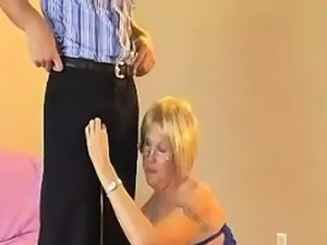 Granny Accidentally Touches Young Guy\'s Cock