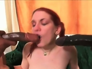 The dick swingin\' cock monsters roped ginger sexy cutie