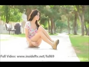 Eliana _ Sexy amateur babe flashing her tits and pussy in public