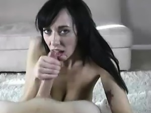 Horny Babe\'s Stroking The Hell Outta Massive Cock