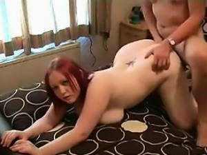 Fat Amateur Redhead Gets Fucked And Gets Cum