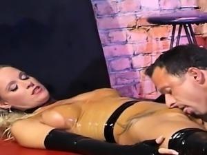 Busty pornstar cock sucking