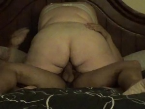 Fatty riding my cock