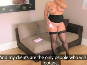 Busty euro pussyfucked before tugging cock