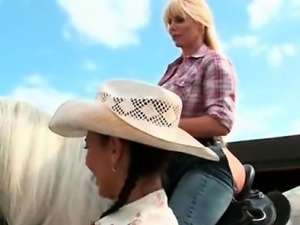 Sexy cow girls flaunting big hot asses