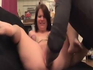 Teen slave brutally fist fucked by her boyfriend
