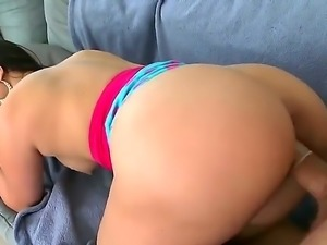 Brunette Latina with a massive ass (emphasis on the massive), Valerie Kay, is...