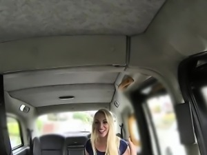 British bombshell anal banged in a fake taxi