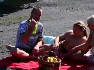 Bisexual dude swallows