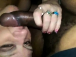 Cuckolding MILF Housewife Sucks Black Cock