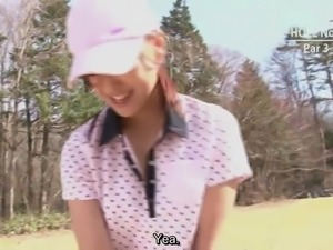 Japanese golf uncensored blowjob challenge