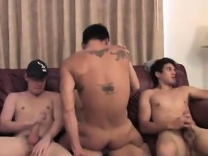 Huge cock in small gay ass He wanks that pecker until he wai