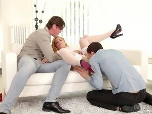 naughty krisy fox has fun with two guys @ dp the nanny with me #04