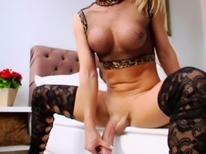 Solo tranny amateur with bigtits in lingerie