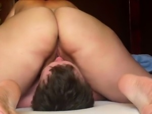 Horny amateur BBW sitting on his face
