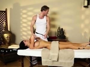 sleek massage actions from voyeur camera