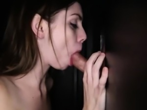She backs her ass up to hole and he tries to fuck her
