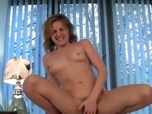Amateur Blonde And Big Dildo Friend