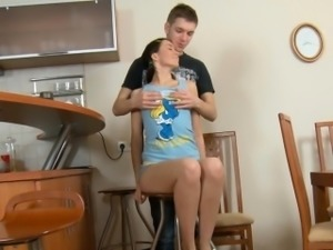 Wild darling is giving double oral job for hungry studs