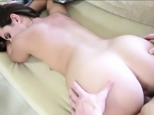 Teenie nailed and filled her pussy with cum by the pool boy