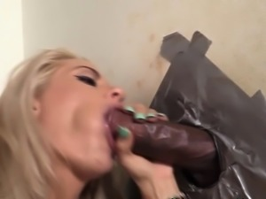 Slut creamed at gloryhole