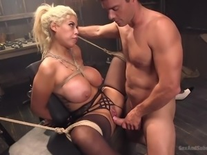 sexy milf gets bonded and banged