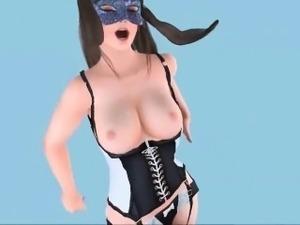 Animated lesbians enjoying strapon
