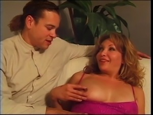 Cock sucking redhead tranny with nice tits and round ass gets fucked hard