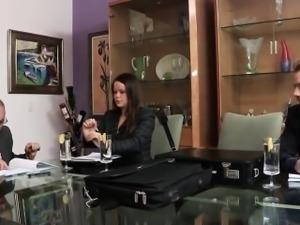 Pierced babe masturbates before pussyfucked