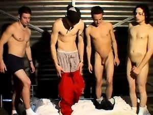 Young emo gay sucking cock Garage Piss Orgy For Justin
