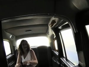 Nylon stocks chubby slut fucked in taxi