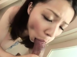 Rika Koizumi perky tits babe sucks cock and fucks until