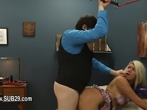 Submissive BDSM deepfucking with anal whore