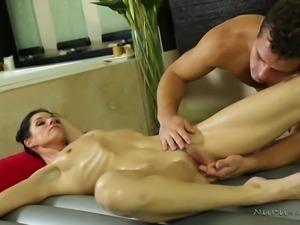 sensual naked milf gets aroused