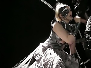 Julia Ann is in the underworld scene and she is filmed as she is sucking a...