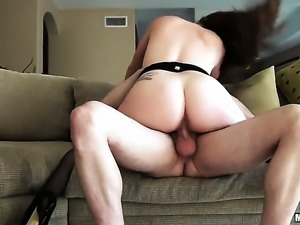 Redhead is having some anal action.
