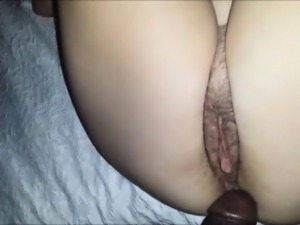 Hot white pussy fucked by a black cock