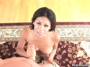 Unthinkably sexy sweetie Cassandra Cruz squeezes the juice out of dick with...
