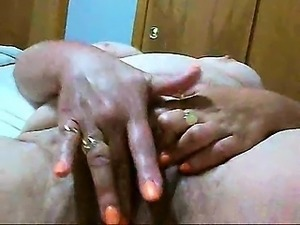 My hubby makes my best friend rub her pussy till she cums.