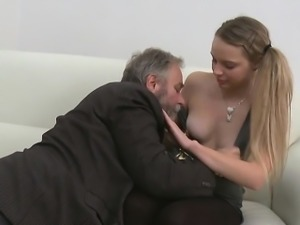 Active old crock fucks young enchanting nympho greatly hard