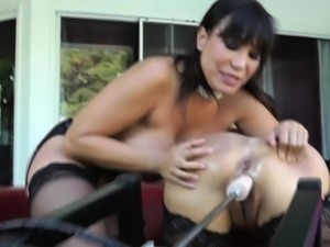Lesbian Milfs Ass licking and Machine fuck