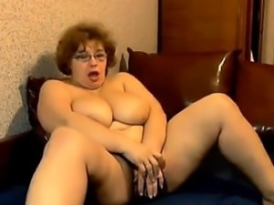 Big And Busty Mother Masturbates