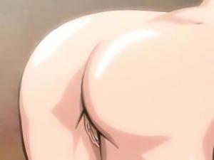 Sweet hentai girl machine fucked as sex slave