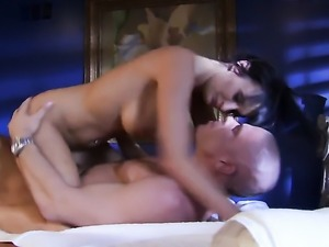 Big titty babe Alektra Blue gets her trimmed pussy hammered