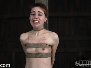 Tossed up awesome cutie is punished