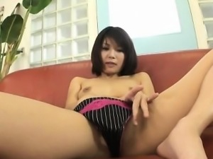 Housewife Azumi Harusaki enjoys toys up her cunt