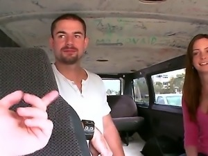 Tiffany Lane is an amateur that is cumshot in the back of the van as she is...